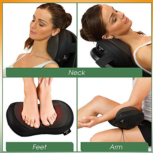 car and computer shiatsu massaging devices